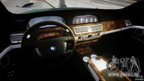 BMW 7 Series E66 pour GTA 4 Vue arrière