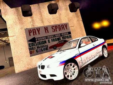 BMW M3 MotoGP SafetyCar für GTA San Andreas linke Ansicht