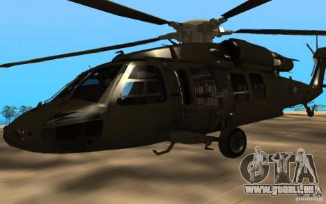 UH-60 Silent Hawk für GTA San Andreas rechten Ansicht
