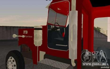 Peterbilt 379 Fire Truck ver.1.0 pour GTA San Andreas laissé vue