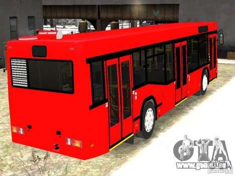 MAZ 5295 v2.0 final pour GTA 4 Vue arrière de la gauche
