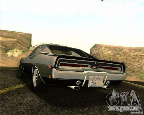 Dodge Charger RT 1969 pour GTA San Andreas vue de côté