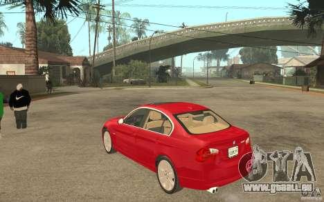 BMW 330i E90 v.2.0 für GTA San Andreas zurück linke Ansicht