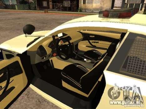 Bmw 135i coupe Police pour GTA San Andreas sur la vue arrière gauche