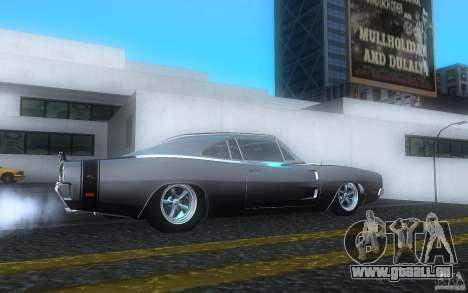 Dodge Charger RT 69 pour GTA San Andreas vue de droite