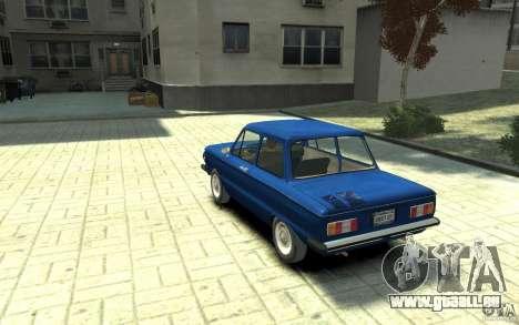 ZAZ 968 m pour GTA 4 Vue arrière de la gauche