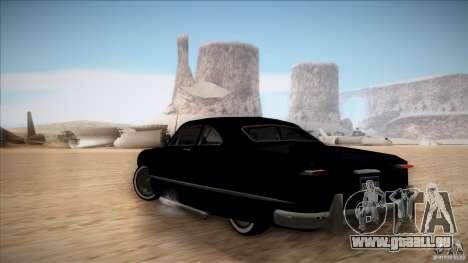 Ford Coupe Custom 1949 pour GTA San Andreas vue de droite