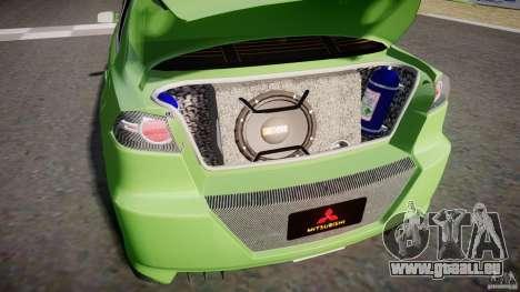 Mitsubishi Lancer Evolution X Tuning pour GTA 4 est une vue de l'intérieur