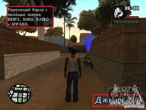 Traduction originale de 1C pour GTA San Andreas troisième écran