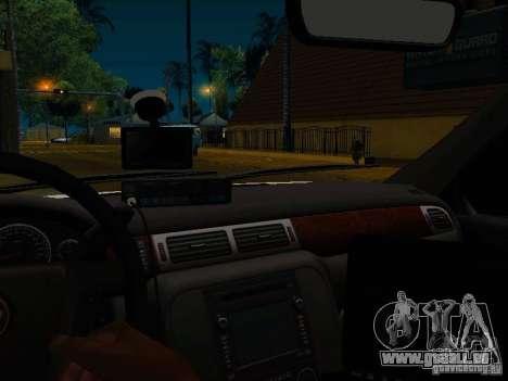 Chevrolet Tahoe Texas Highway Patrol pour GTA San Andreas vue intérieure
