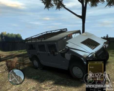Hummer H1 für GTA 4 obere Ansicht