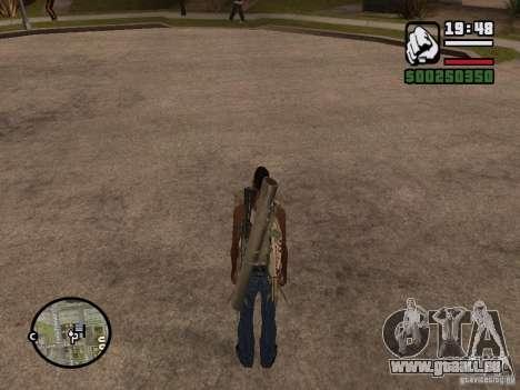 L'arme dans le dos pour GTA San Andreas