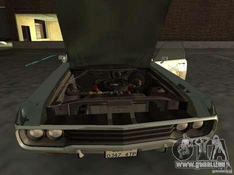 Dodge Polara Police 1971 für GTA San Andreas zurück linke Ansicht