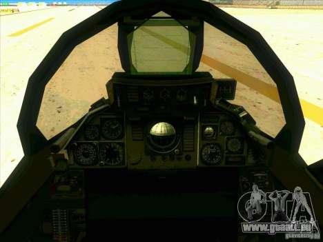 F-14 Tomcat Razgriz pour GTA San Andreas vue de côté