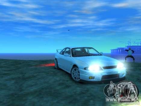 Nissan Skyline GT-R V-Spec (R33) 1997 für GTA 4 Rückansicht