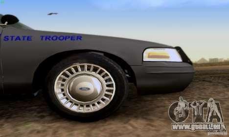 Ford Crown Victoria Kentucky Police für GTA San Andreas rechten Ansicht
