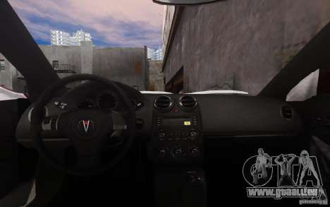 Pontiac G6 pour GTA 4 est une vue de dessous