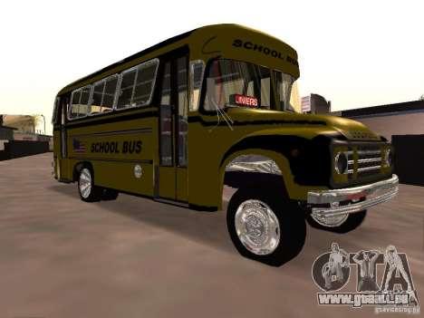 Bedford School Bus pour GTA San Andreas vue intérieure