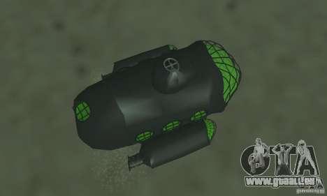 Sous-marin pour GTA San Andreas vue arrière