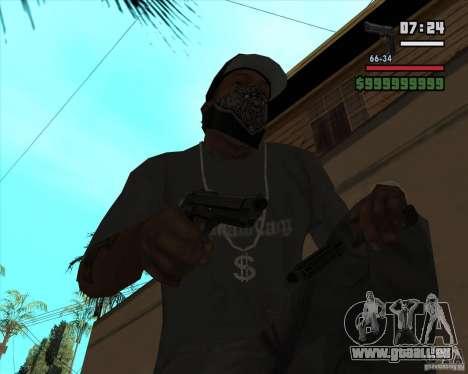 Beretta M92FS HD für GTA San Andreas dritten Screenshot