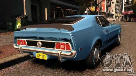 Ford Mustang Mach 1 1973 v2 für GTA 4 hinten links Ansicht