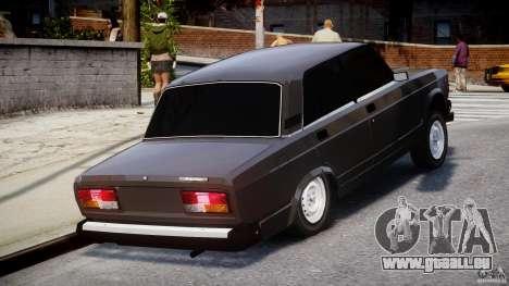 VAZ-2107 Avtosh style pour GTA 4 est une vue de l'intérieur