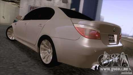 BMW M5 2009 pour GTA San Andreas vue de droite