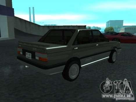 Nissan Sanny 1500 (B12) pour GTA San Andreas sur la vue arrière gauche