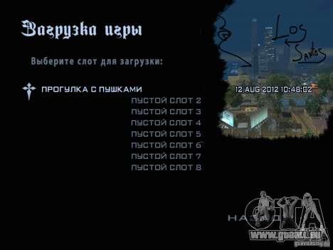 Nouvelles images dans le menu pour GTA San Andreas troisième écran