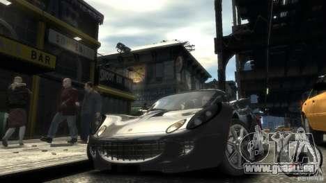 Lotus Elise v2.0 pour GTA 4 Vue arrière