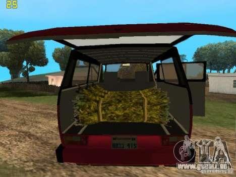 Volkswagen Transporter T3 pour GTA San Andreas sur la vue arrière gauche