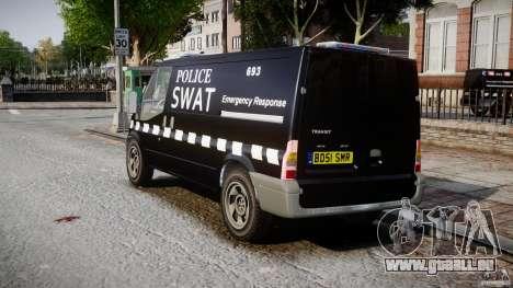 Ford Transit SWAT [ELS] pour GTA 4 Vue arrière de la gauche