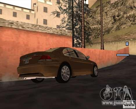 BMW 760i pour GTA San Andreas vue de droite