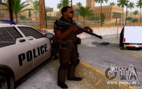 Ein Polizist aus CoD: BO2 für GTA San Andreas zweiten Screenshot