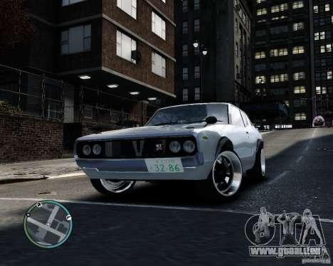 Nissan Skyline KPGC110 2000GT-X pour GTA 4 est une gauche