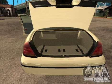 Ford Crown Victoria 2003 Police pour GTA San Andreas vue arrière