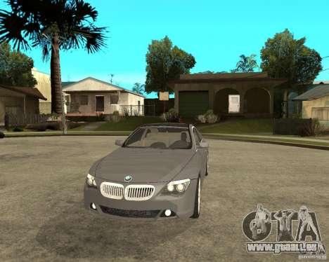BMW 645Ci 04 für GTA San Andreas Rückansicht