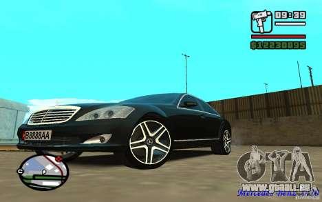 Mercedes - Benz S420 (W221) pour GTA San Andreas