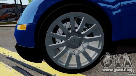 Bugatti Veyron 16.4 v1.0 wheel 2 für GTA 4 Rückansicht