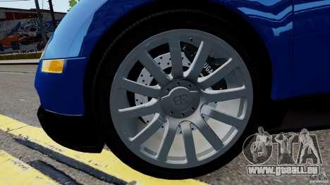 Bugatti Veyron 16.4 v1.0 wheel 2 pour GTA 4 Vue arrière