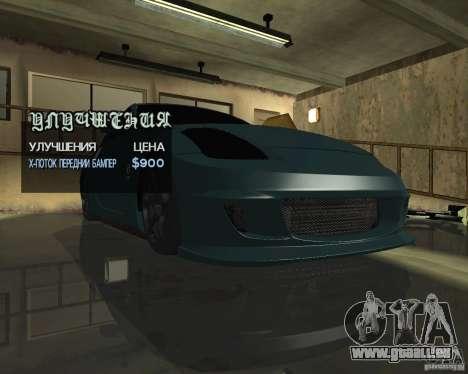 Nissan 350Z Tunable für GTA San Andreas Innenansicht
