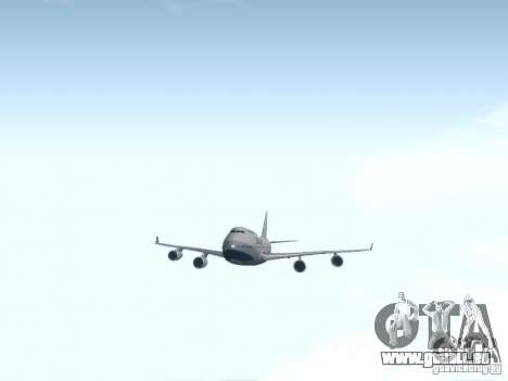 Boeing 747-400 China Airlines für GTA San Andreas Innenansicht