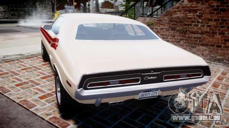 Dodge Challenger 1971 RT pour GTA 4 Vue arrière de la gauche
