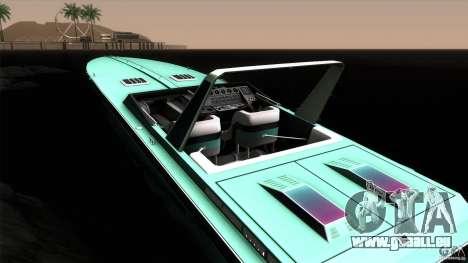 Wellcraft 38 Scarab KV für GTA San Andreas Innenansicht