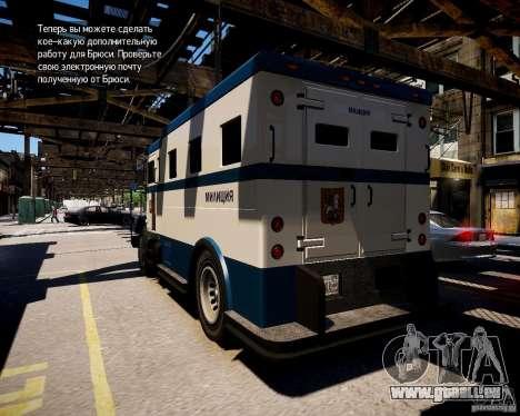 Russian Police Stockade für GTA 4 hinten links Ansicht