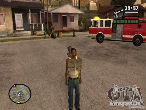 L'arme dans le dos pour GTA San Andreas deuxième écran