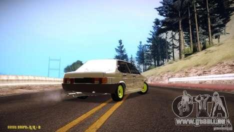 VAZ 21099 Hobo für GTA San Andreas zurück linke Ansicht