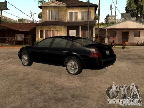 Nissan Teana pour GTA San Andreas sur la vue arrière gauche