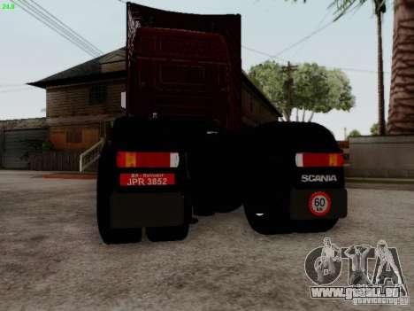 Scania R580 V8 Topline pour GTA San Andreas vue arrière