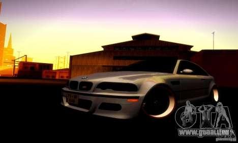 BMW M3 JDM Tuning pour GTA San Andreas vue intérieure